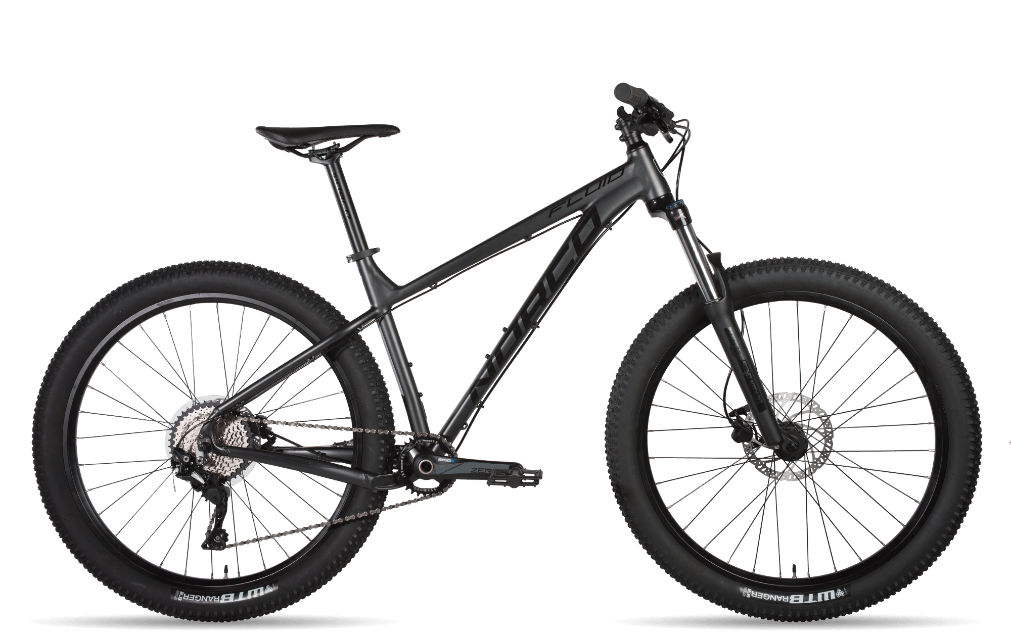 norco fluid black hardtail bike